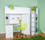 Candy High Sleeper Bed White