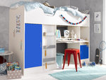 Cambourne High Sleeper Cabin Bed White Blue