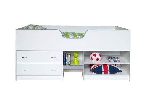 Tinwell Midi Sleeper Storage Bed With Two Drawers and Shelving